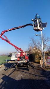 Montáž fotovoltaického osvetlenia H.Seč