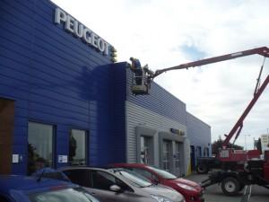 Montáž kamerového systému objektov Peugeot Levice